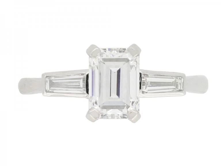 front view antique engagement diamond ring hatton garden berganza