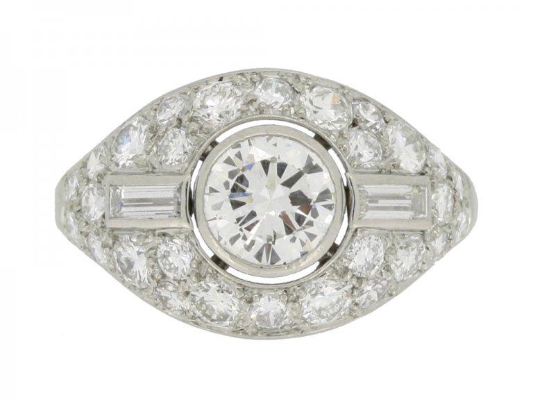 Boucheron Paris diamond cluster ring berganza hatton garden