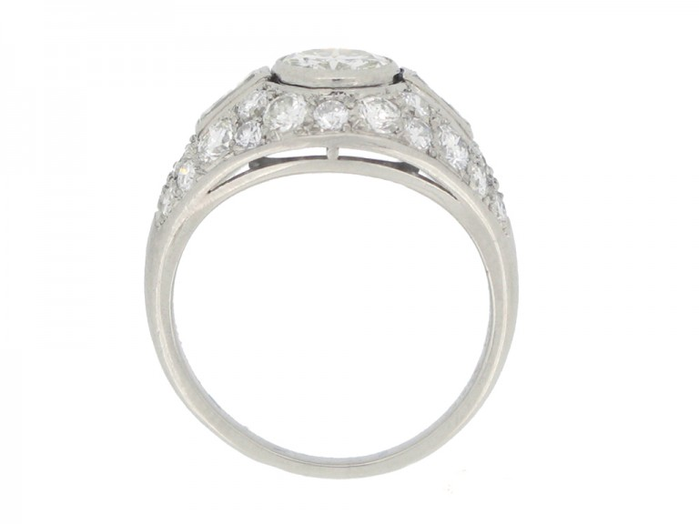 Boucheron Paris diamond cluster ring berganza hatton garden