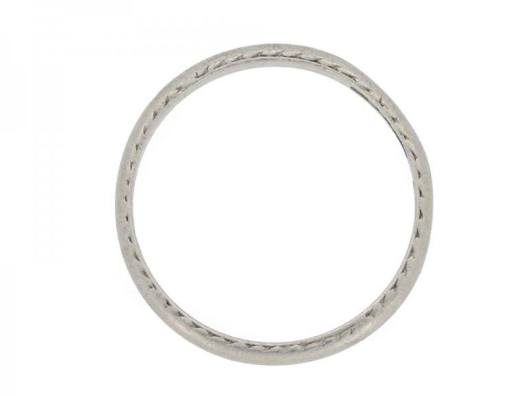 Wedding ring in platinum berganza hatton garden