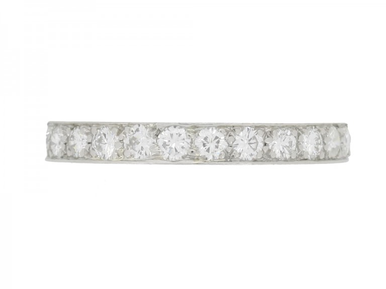front view Diamond eternity ring, circa 1950s.