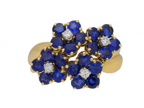 Van Cleef & Arpels vintage flower ring berganza hatton garden