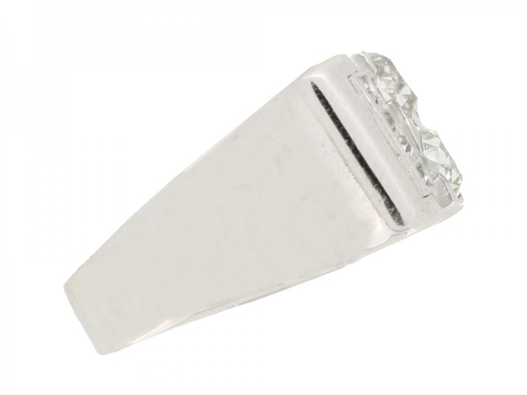side view vintage diamond cocktail ring berganza hatton garden