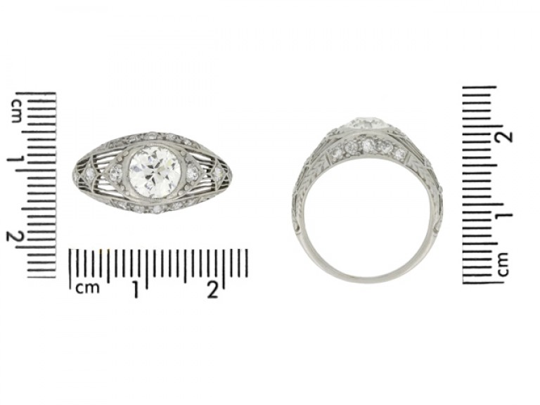 Antique old cut diamond ring berganza hatton garden
