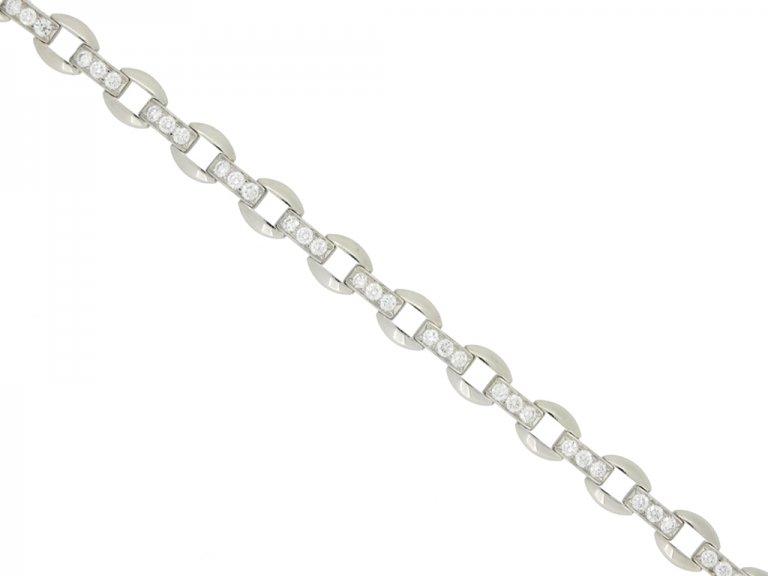 front view Oscar Heyman Brothers vintage diamond bracelet