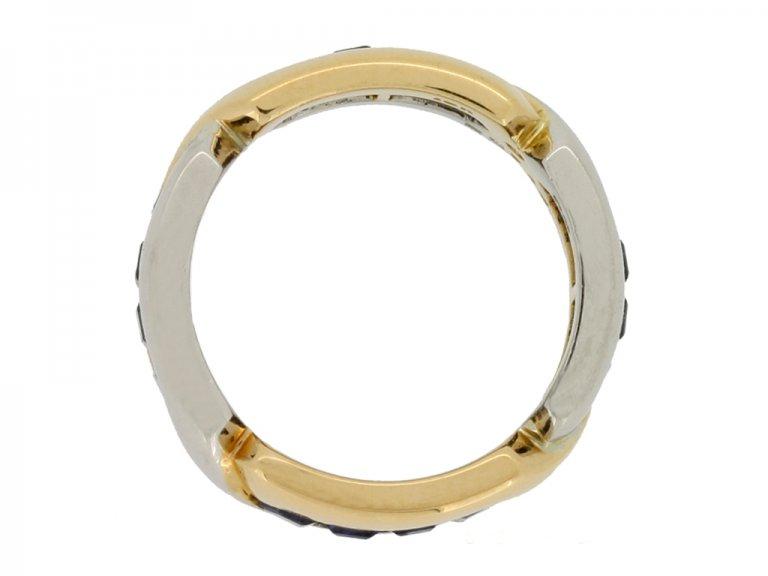back view Oscar Heyman Brothers sapphire ring, circa 1970.