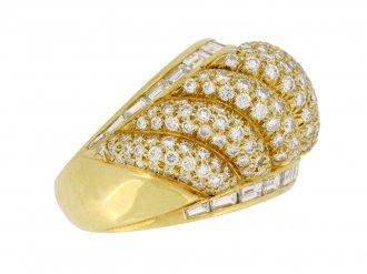 front veiw Van Cleef & Arpels vintage diamond dress ring