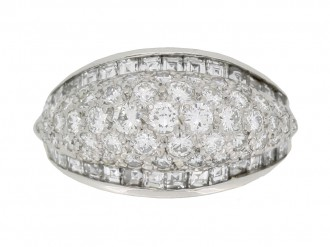 front view Oscar Heyman Brothers vintage diamond cluster ring