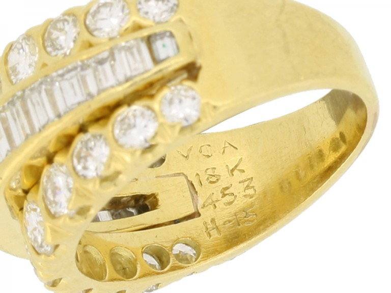 mark view Van Cleef & Arpels three row diamond ring