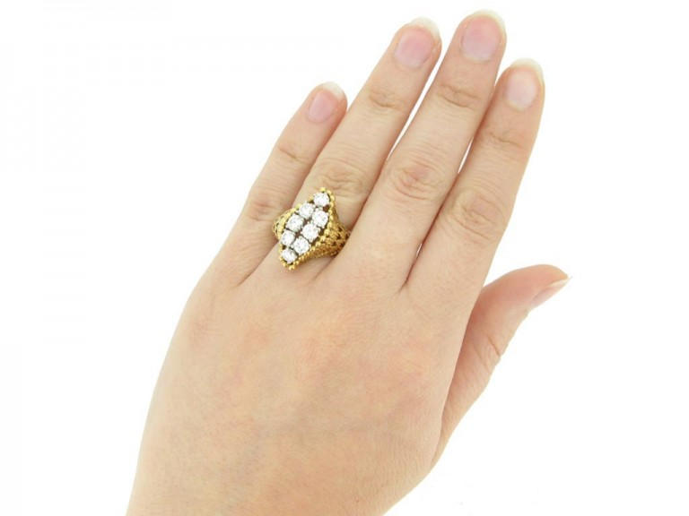 Cartier Paris vintage diamond dress ring