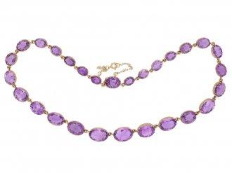 Victorian amethyst riviere necklace berganza hatton garden