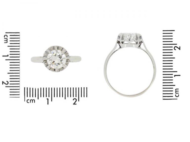 size view antique engagement diamond ring hatton garden berganza