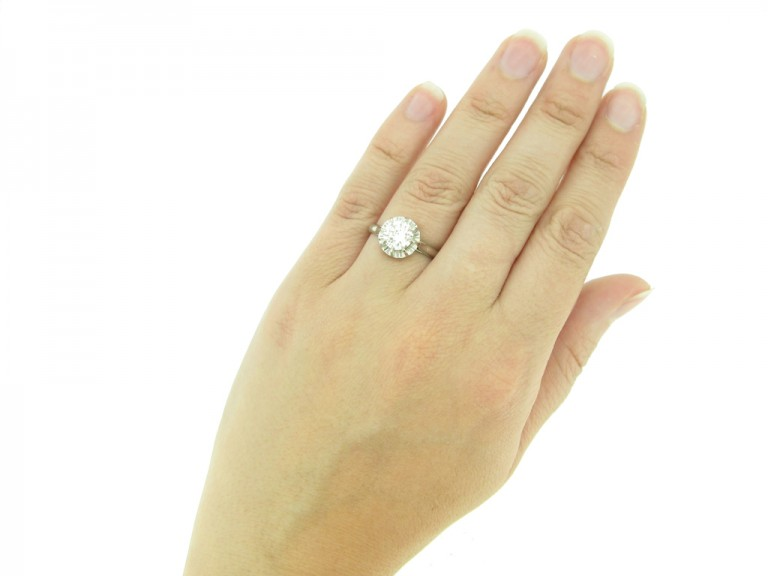 hand view antique engagement diamond ring hatton garden berganza