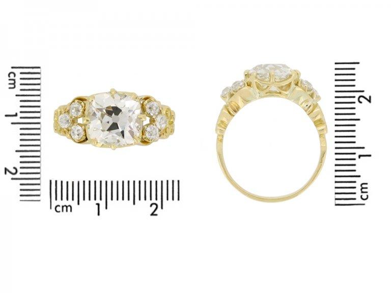 Antique old mine diamond ring
