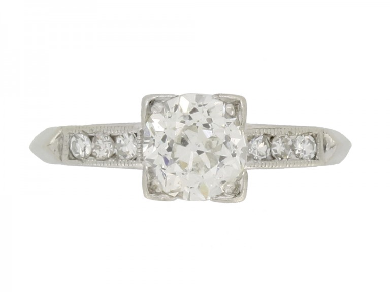 front view Solitaire diamond ring w