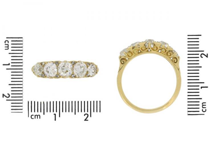 size view antique five diamond ring hatton garden berganza