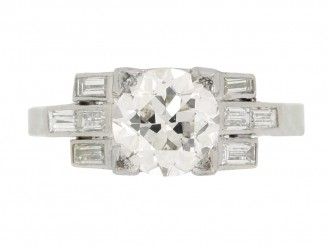 front view Art Deco engagement diamond ring berganza hatton garden