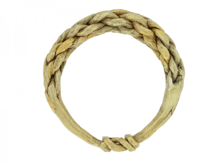 Viking gold plaited ring, circa 9th