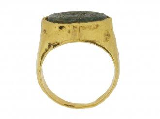back view Ancient Roman intaglio ring
