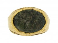 front view Ancient Roman intaglio