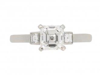 front view Art Deco diamond e