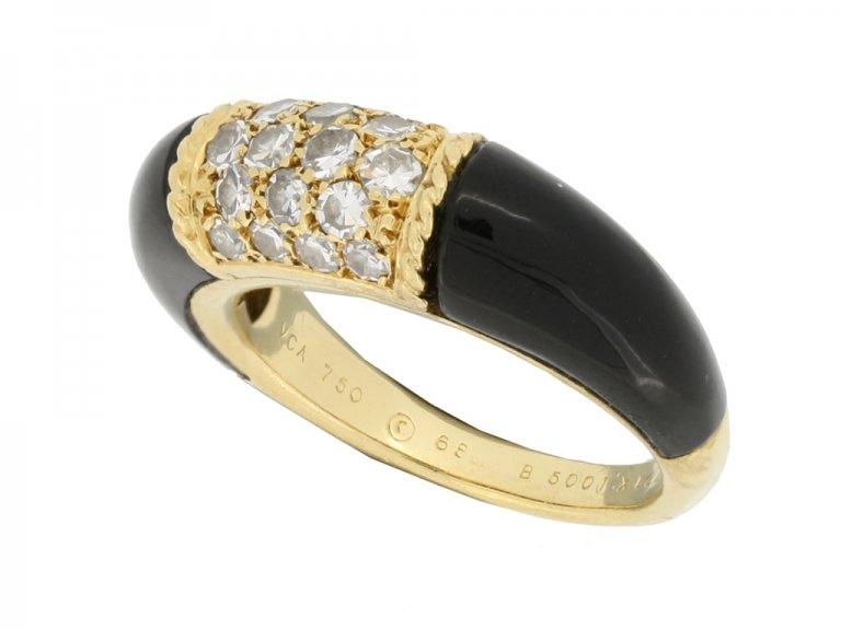 hallmark view Van Cleef & Arpels onyx and diamond 'Philippine' ring