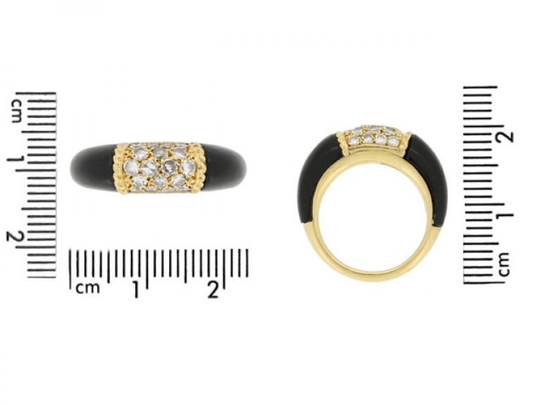 size view Van Cleef & Arpels onyx and diamond 'Philippine' ring