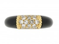 front view Van Cleef & Arpels onyx and diamond 'Philippine' ring