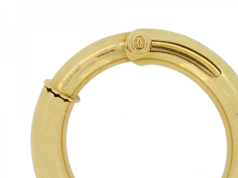 Cartier vintage gold hoop earrings, French, circa 1960s.