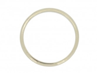 front view Wedding ring in white gold, French