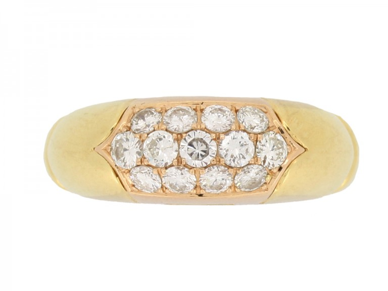 front view Bulgari vintage diamond cluster ring