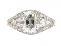 front view Art Deco diamond engagement ring