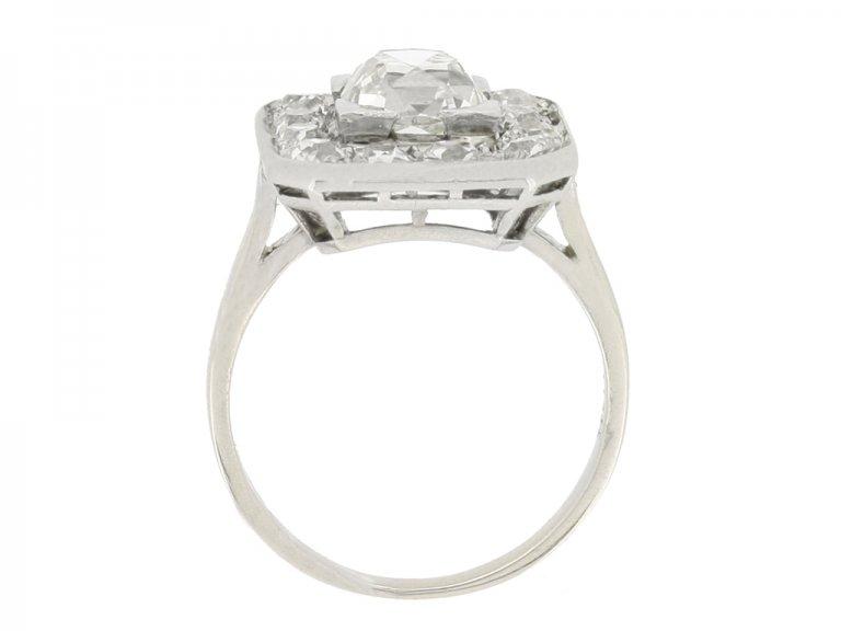 back view Mellerio Art Deco diamond cluster ring