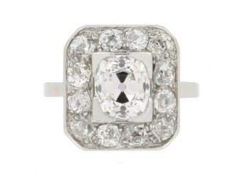 front view Mellerio Art Deco diamond cluster ring