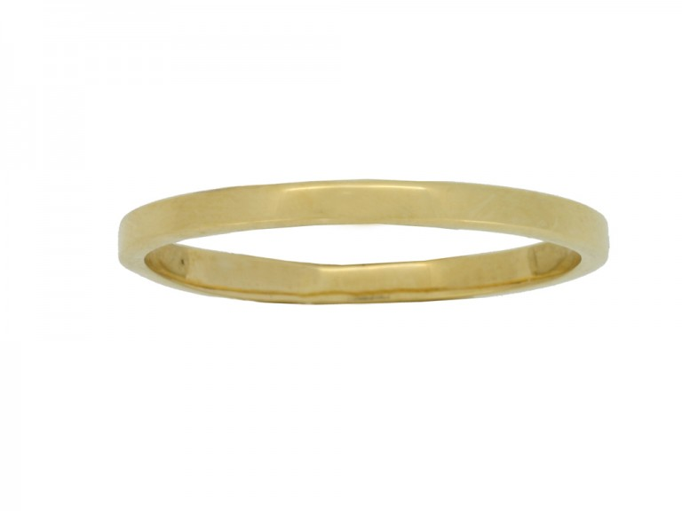 front view Wedding ring in 18ct yellow gold,