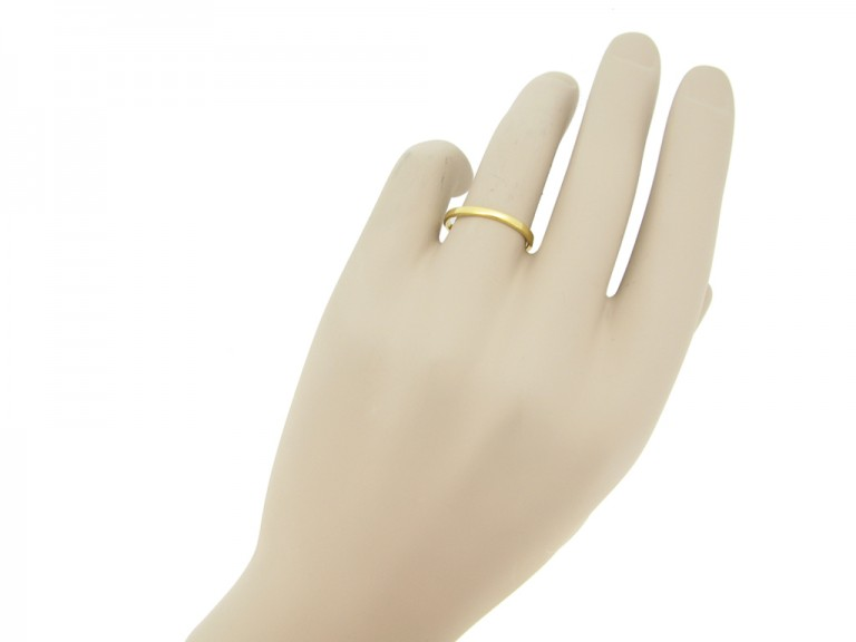 Wedding ring in 18ct yellow gold,
