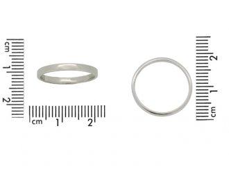 Wedding ring in white gold