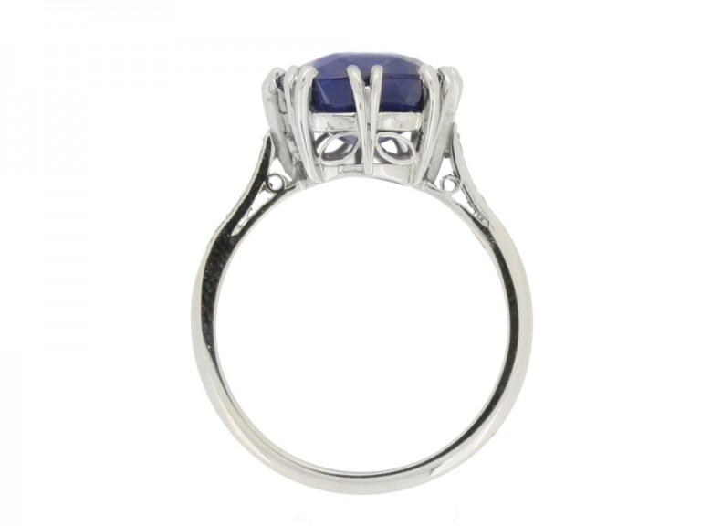 back view Colour change sapphire ring