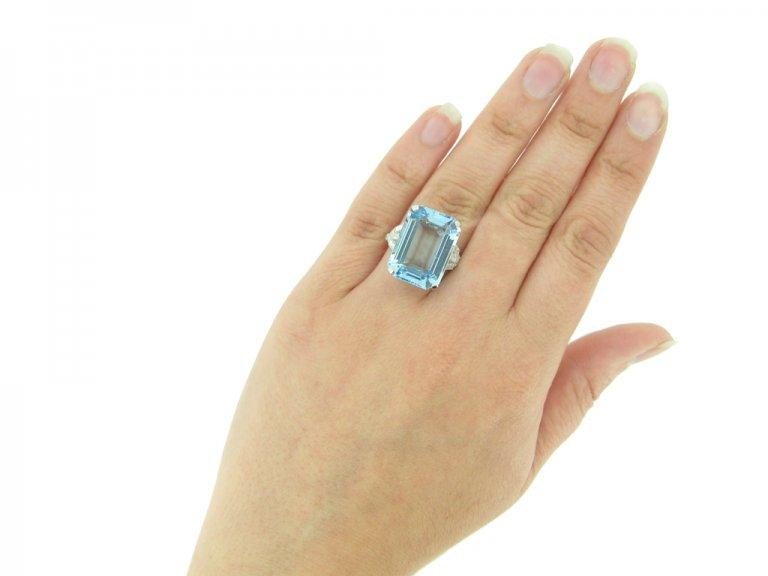 antique diamond aquamarine ring berganza hatton garden
