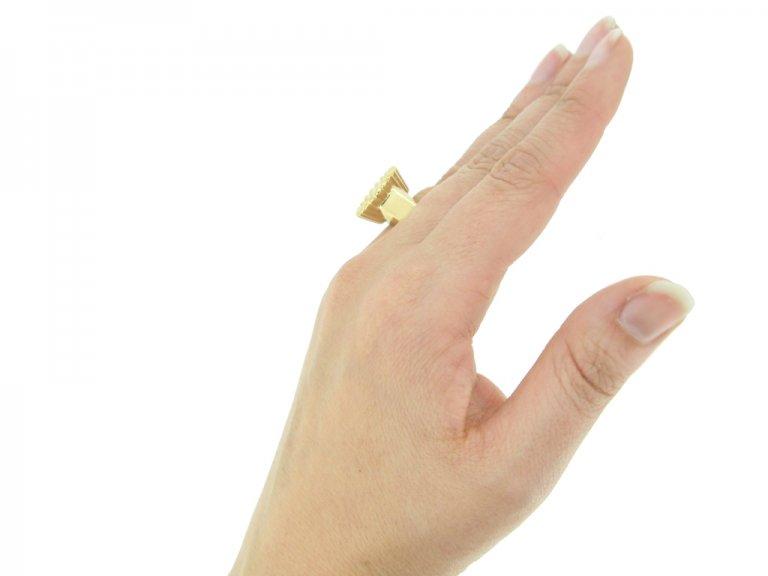 antique yellow gold diamond ring berganza hatton garden