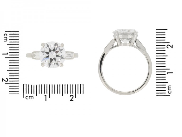 size view Cartier solitaire diamond engagement ring