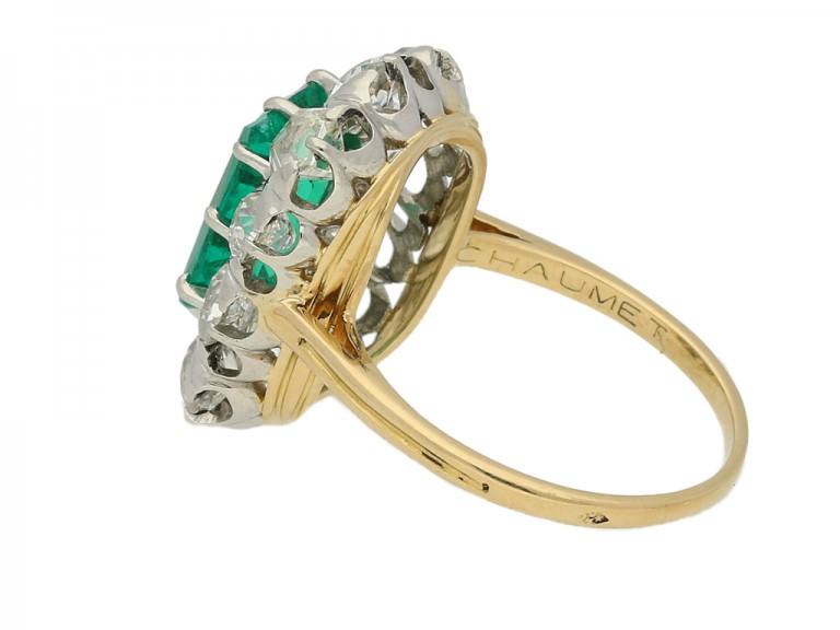 mark view Chaumet emerald diamond ring berganza hatton garden