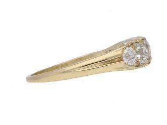 front view antique diamond band ring berganza hatton garden
