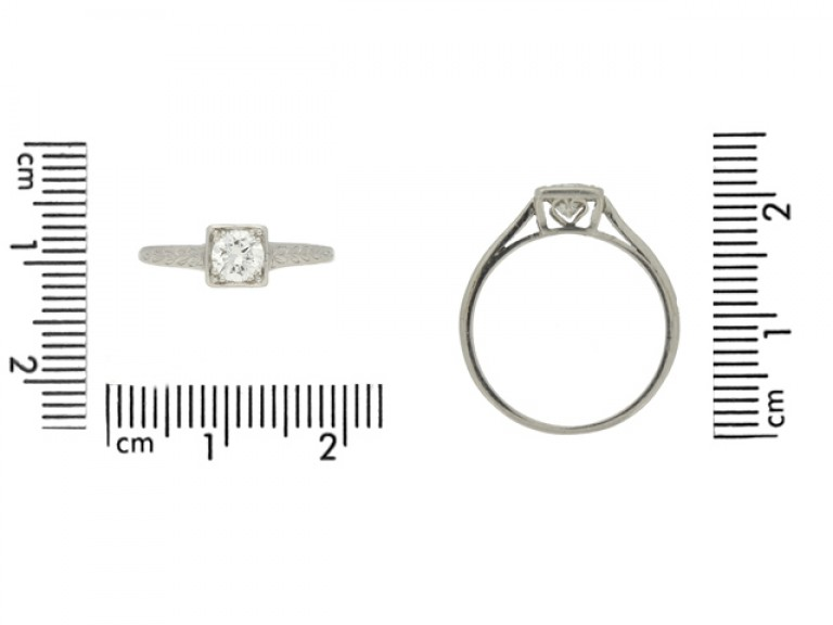 size view Tiffany & Co. Art Deco solitaire diamond ring