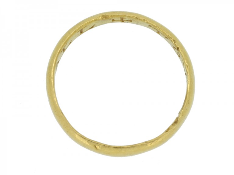 back view gold posy ring berganza hatton garden