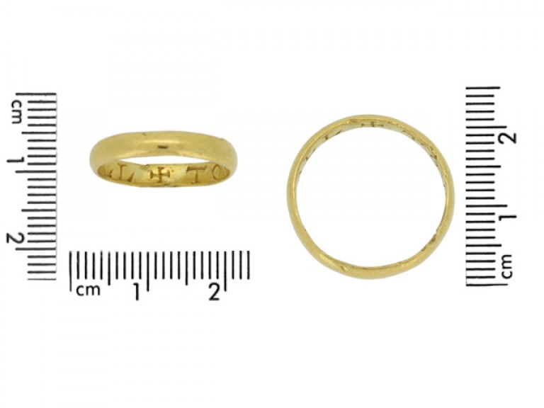 size view gold posy ring berganza hatton garden