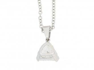 front view Vintage diamond pendant