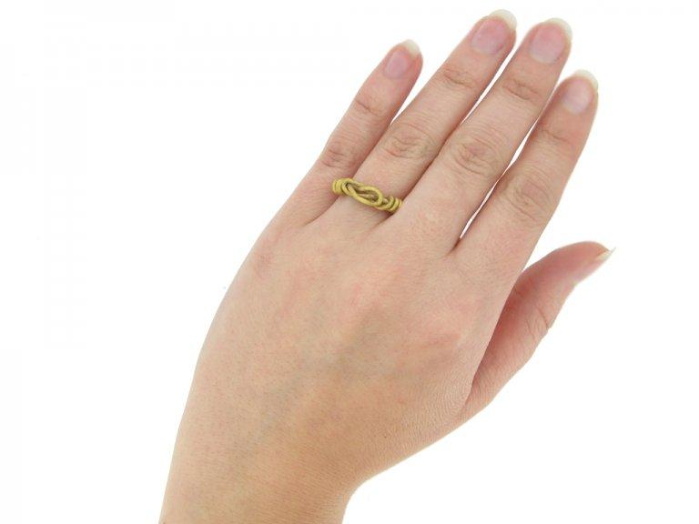hand ancient gold viking ring berganza hatton garden