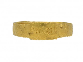 front view Ancient Roman gold ring