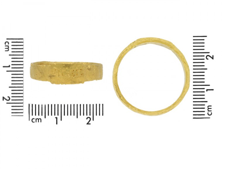 size view Ancient Roman gold ring